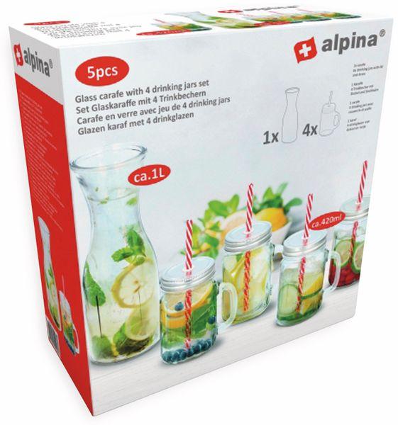 Karaffe mit 4 Trinkbecher ALPINA - Produktbild 2