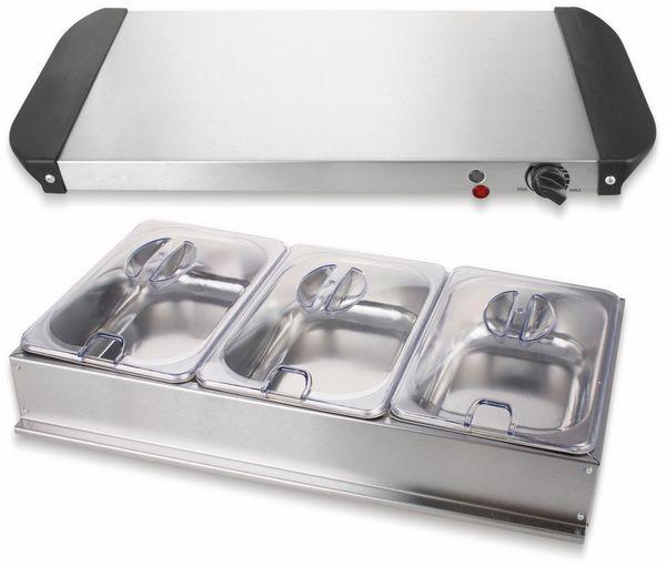 Buffetwärmer EMERIO BS-110790, 3x 1,5 L Kapazität, Warmhalteplatte - Produktbild 4