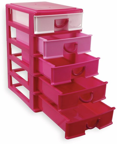 Box mit 5 Laden, 130x180x245 mm, pink - Produktbild 2