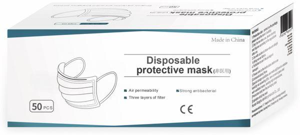 50er Pack Einweg-Schutzmasken LogiLink, 3-lagig mit Ohrschlaufen - Produktbild 4