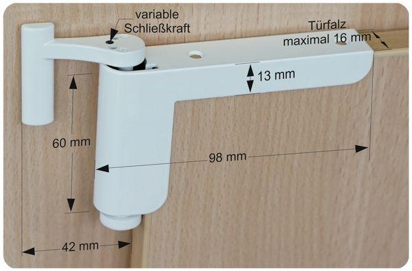 Mini-Türschließer, Clip Close, weiß - Produktbild 6