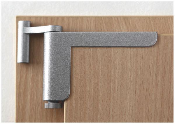 Mini-Türschließer, Clip Close, silber - Produktbild 3