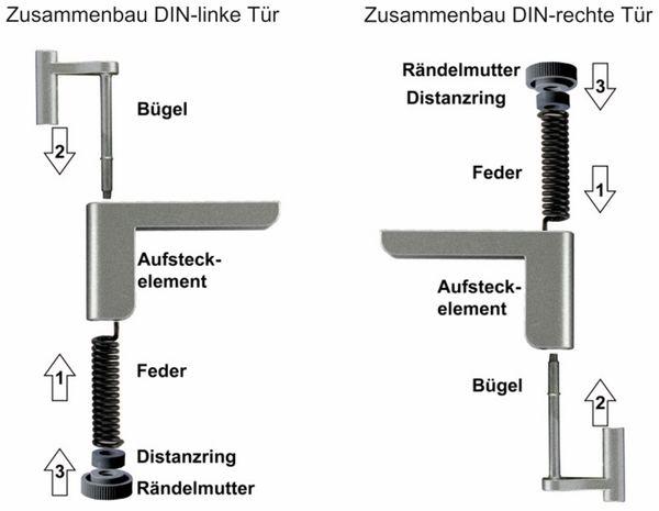 Mini-Türschließer, Clip Close, silber - Produktbild 4
