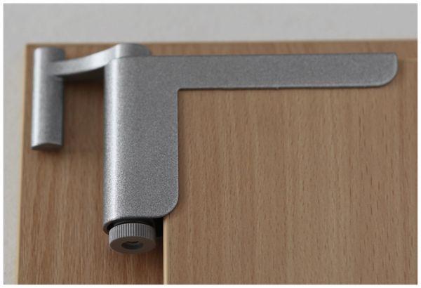 Mini-Türschließer, Clip Close, silber - Produktbild 7