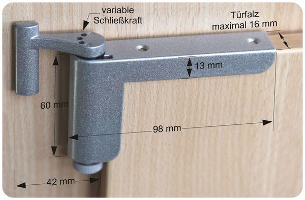 Mini-Türschließer, Clip Close, silber - Produktbild 8