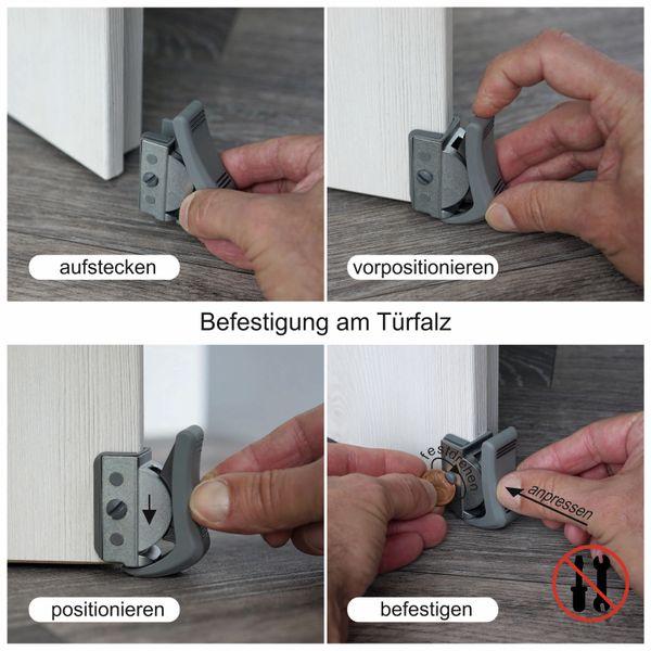 Türfeststeller, ClipFlix mini, grau - Produktbild 10