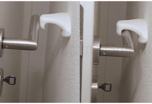 Türstopper/ Türhalter, ClipOn, weiß