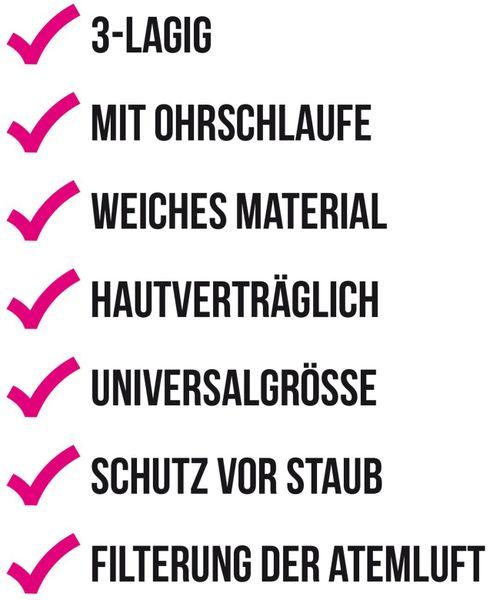 """50er Pack Einweg-Mundschutzmasken für Kinder, Motiv """"Bär"""" - Produktbild 2"""