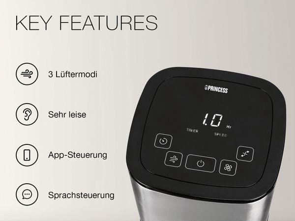 Turmventilator PRINCESS 350000, 50 W, App- und Sprachsteuerung - Produktbild 10