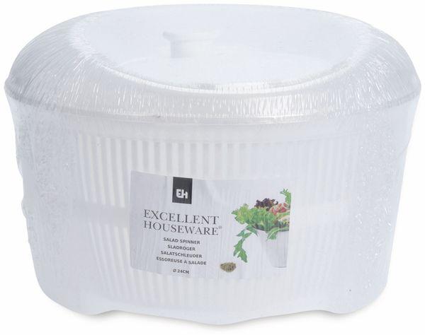 Salatschleuder, Ø 24 cm, 4,4 L, weiß - Produktbild 2