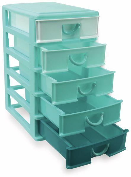 Box mit 5 Laden, 130x180x245 mm, türkis - Produktbild 2