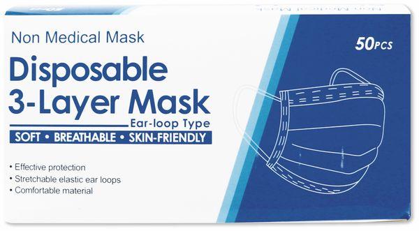 Mundschutzmaske 3-lagig, 50 Stück - Produktbild 2