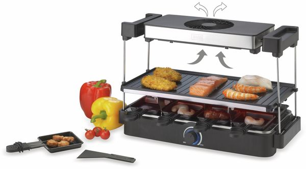 Gourmetgrill & Raclette TREBS 15110, 1200 W, 8 Personen - Produktbild 4