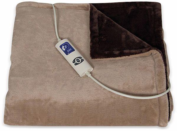Elektrische Fleece-Decke TREBS 99342, 160 W, braun und beige - Produktbild 2