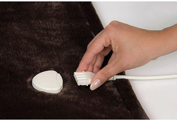 Elektrische Fleece-Decke TREBS 99342, 160 W, braun und beige - Produktbild 3