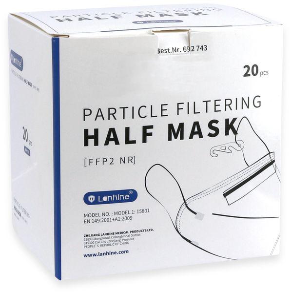 Atemschutzmaske FFP2 NR, Lanhine CE 0598, 20 Stück - Produktbild 5
