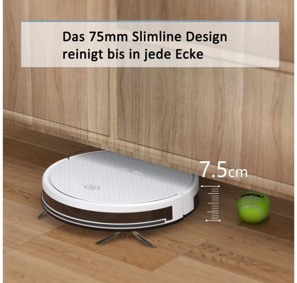 Staubsauger-Roboter TESVOR X500pro, weiß - Produktbild 5