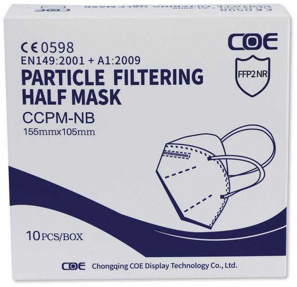 10er Set Atemschutzmasken FFP2 NR COE - Produktbild 3