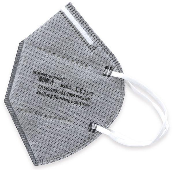10er Set Atemschutzmasken FFP2 NR, grau - Produktbild 2