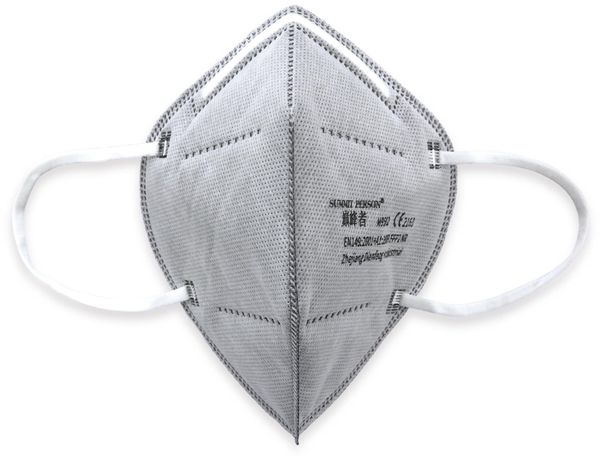 10er Set Atemschutzmasken FFP2 NR, grau - Produktbild 3