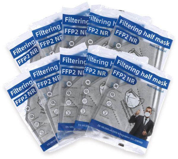 10er Set Atemschutzmasken FFP2 NR, grau - Produktbild 4