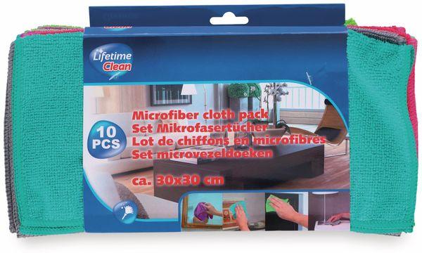 Mikrofaser-Reinigungstücher LIFETIME CLEAN, 10 Stück, 30x30 cm - Produktbild 2