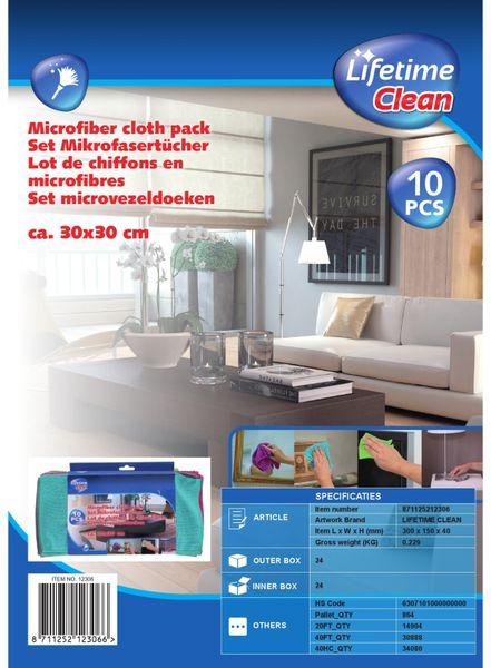 Mikrofaser-Reinigungstücher LIFETIME CLEAN, 10 Stück, 30x30 cm - Produktbild 3