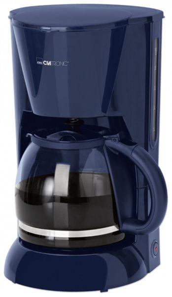 Kaffeemaschine CLATRONIC KA 3473, 1,5 L, 900 W, blau