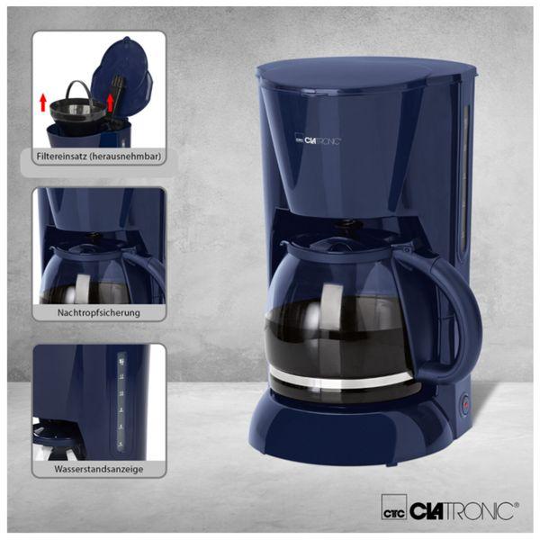 Kaffeemaschine CLATRONIC KA 3473, 1,5 L, 900 W, blau - Produktbild 3