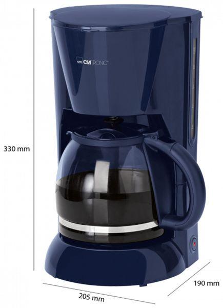 Kaffeemaschine CLATRONIC KA 3473, 1,5 L, 900 W, blau - Produktbild 5