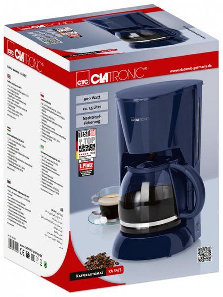 Kaffeemaschine CLATRONIC KA 3473, 1,5 L, 900 W, blau - Produktbild 6