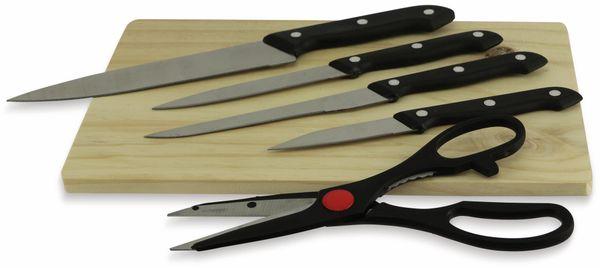 Messer- und Schere-Set, 6-teilig, inkl. Schneidebrett