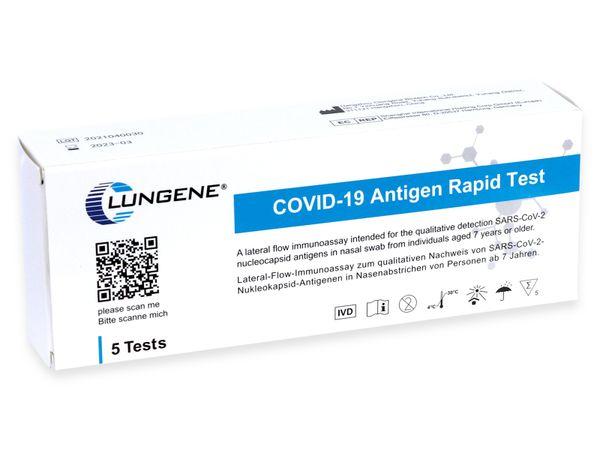 5er-Set Schnelltest CLUNGENE COVID-19 Antigen Rapid Test - Produktbild 2