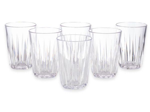 Trinkbecher-Set APS Crystal, Ø: 8 cm, H: 12,5 cm, 6 Stück - Produktbild 2