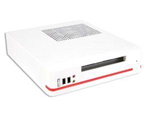 Mini-ITX Gehäuse 8K01, 120 W, weiß/orange - Produktbild 1