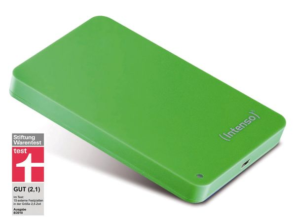 "USB 2.0-HDD INTENSO Memory Station, 6,35 cm (2,5""), 500 GB, grün"