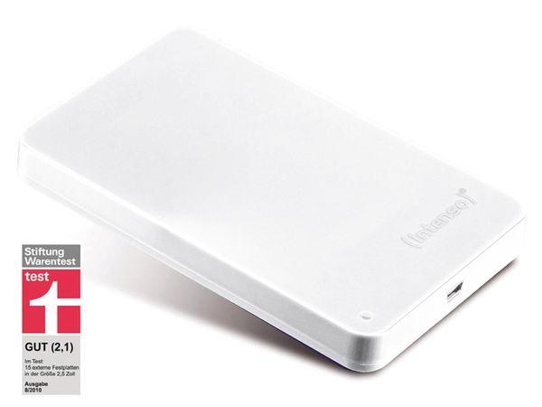"USB 2.0-HDD INTENSO Memory Station, 6,35 cm (2,5""), 500 GB, weiß"