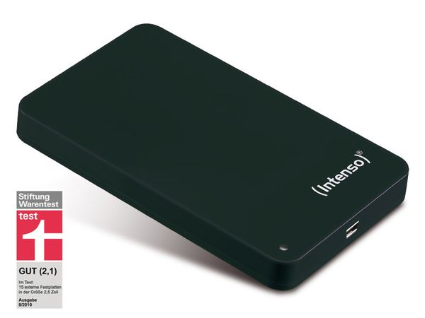 "USB 2.0-HDD INTENSO Memory Station, 6,35 cm (2,5""), 320 GB, schwarz"
