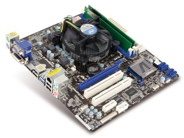 Mainboard-Bundle ASRock H61M/U3S3, Intel Pentium G620, 4 GB DDR3 - Produktbild 1