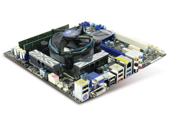 Mainboard-Bundle ASRock H67M-GE/HT, Intel i3-2100, 4 GB - Produktbild 1