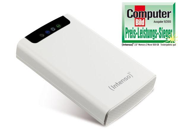 WiFi-Festplatte mit App-Steuerung INTENSO MEMORY 2 MOVE, 500 GB - Produktbild 1