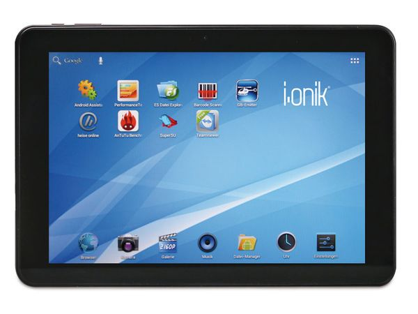 Tablet-PC I-ONIK TP10.1-1500DC-dark grey-metal, Android 4.1.1 - Produktbild 1