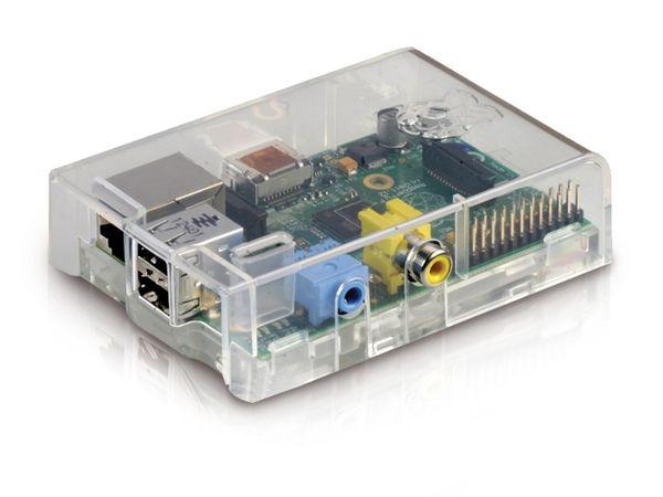 Raspberry Pi Model B mit transparentem Gehäuse