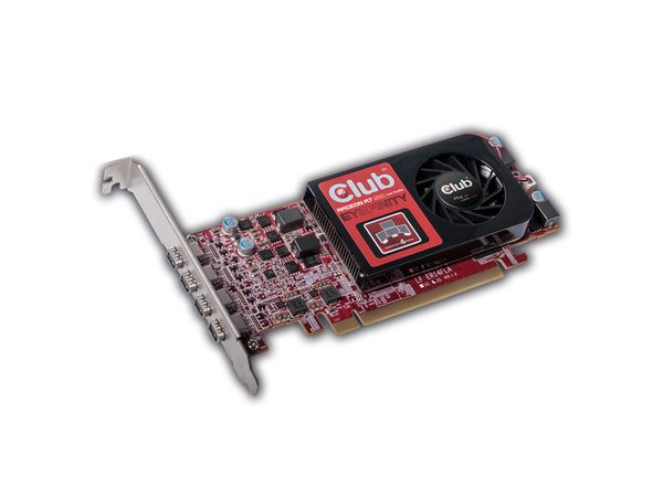 Grafikkarte CLUB 3D Radeon R7 250, 2GB GDDR5, 4x miniDP - Produktbild 1