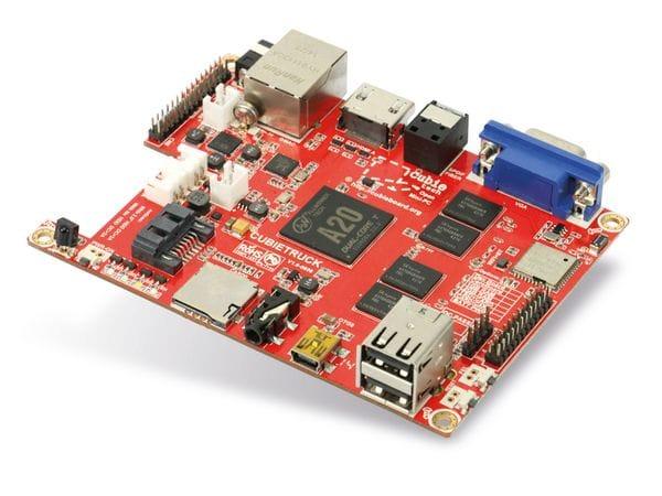 Cubieboard 3 (Cubietruck) Kit, A20, 2 GB, 8 GB, WLAN, BT, SATA - Produktbild 1