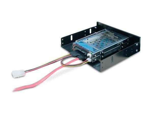"""SATA-Wechselrahmen, 2x 6,35 cm (2,5"""") für 5,25""""-Schacht - Produktbild 4"""