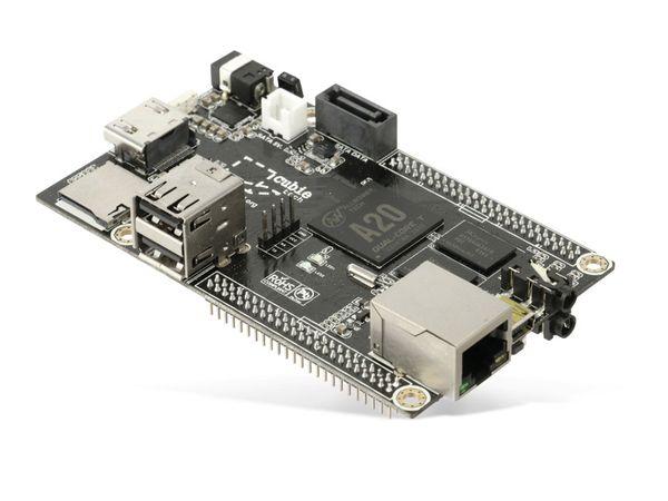 Cubieboard 2 DualCard, A20, 1 GB, 2x microSD, SATA, HDMI