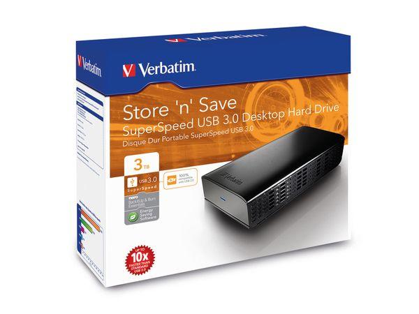 USB 3.0-HDD VERBATIM Store 'n' Save, 3 TB, schwarz - Produktbild 2