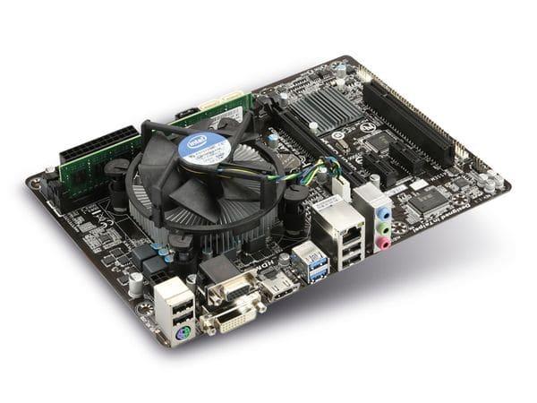 Mainboard-Bundle GIGABYTE B85M-HD3, Intel i3-4350, 4 GB