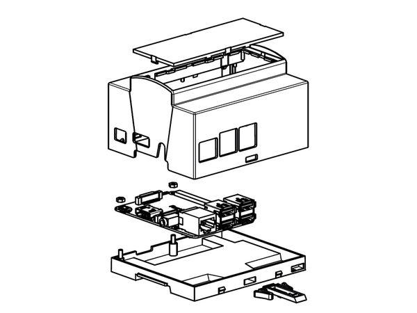 Hutschienen-Gehäuse für Raspberry Pi Model B+, 6TE - Produktbild 5
